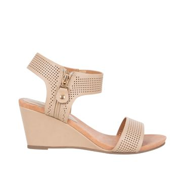 Ankle Strap Sandals with Laser Cutouts